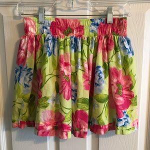 Hollister Green Floral Skirt